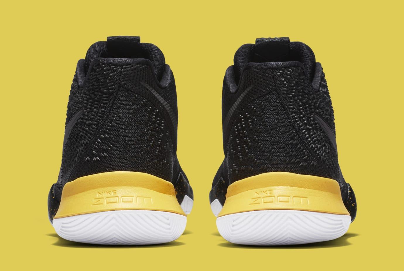 Nike Kyrie 3 Black Yellow Multicolor 852396-901 Heel