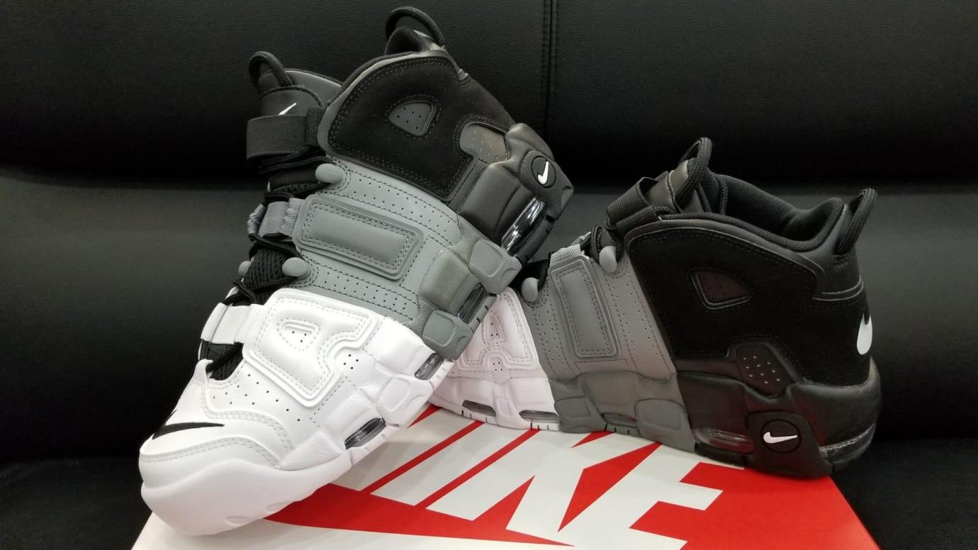 ... Nike Air More Uptempo Tri-Color Black Grey White Release Date Left  921948 002 f0c84ec1d