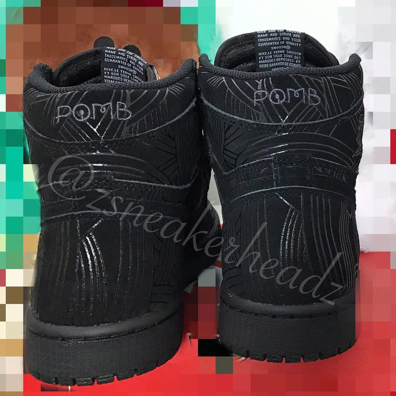 Air Jordan 1 High Los Primeros Release Date Heel
