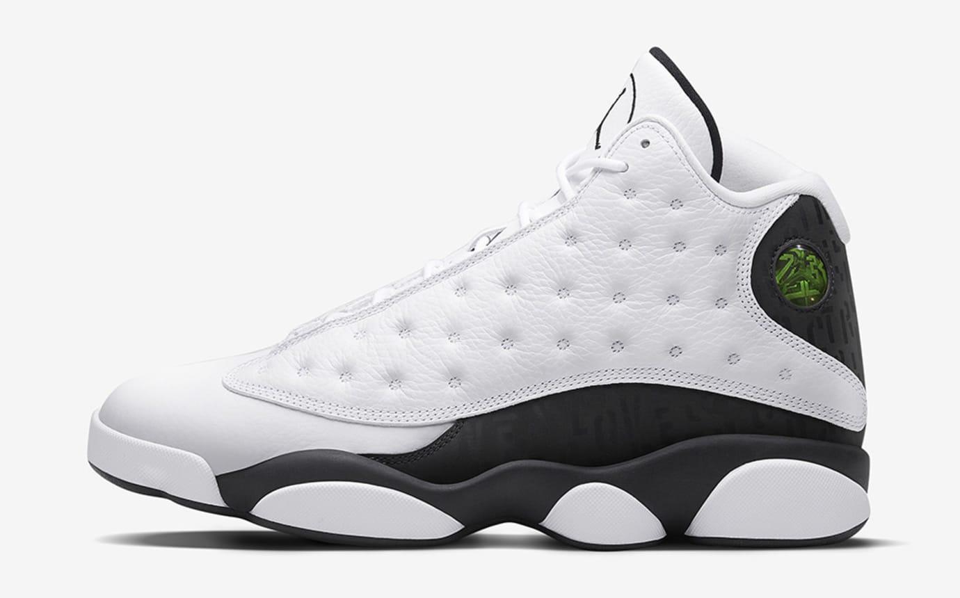 77f5d993d303 Image via Nike Air Jordan 13 Love Respect White Profile