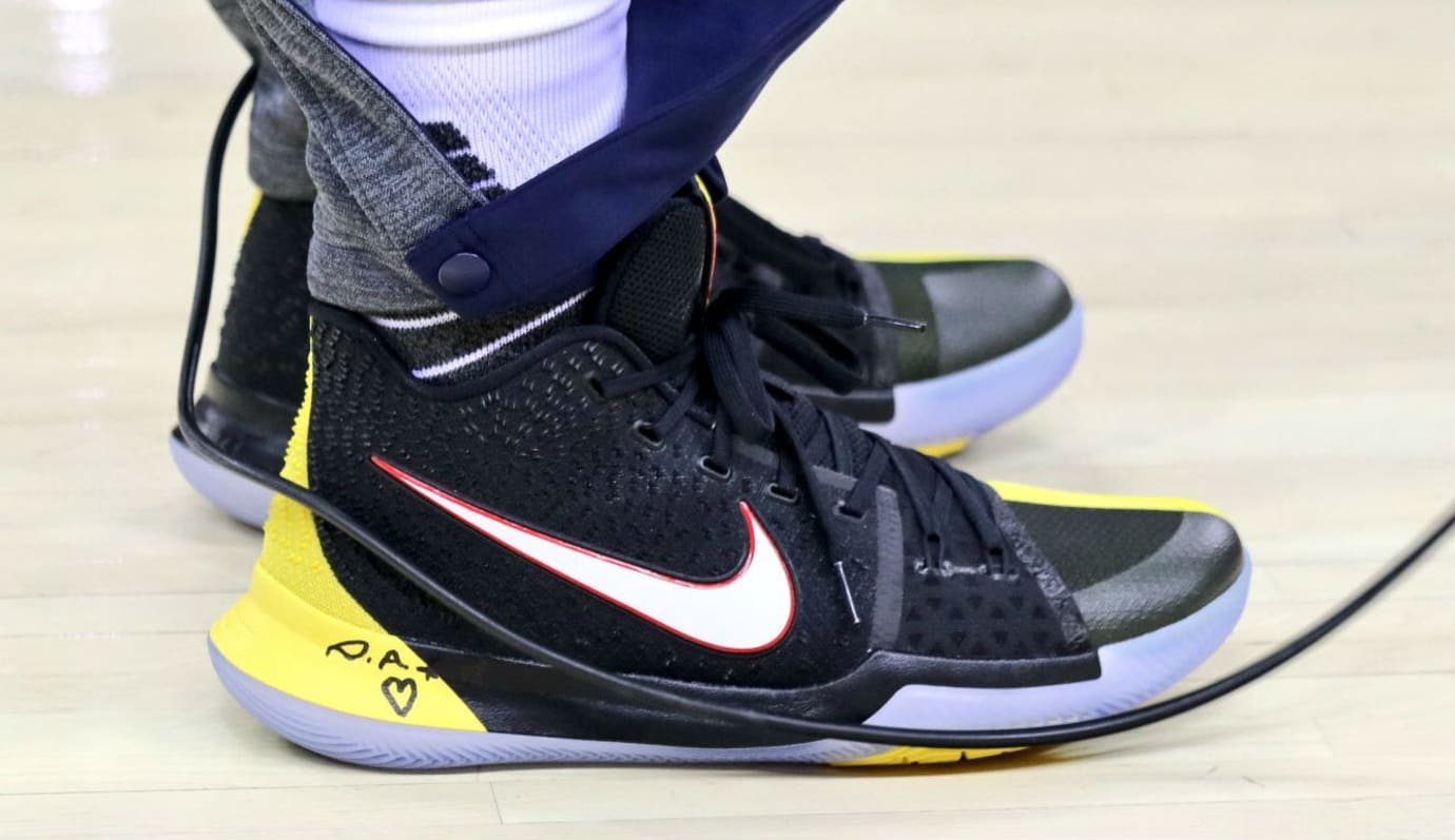Kyrie Irving Nike Kyrie 3 Black Yellow Finals PE Profile  bd0c773af