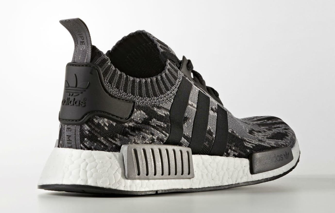 0bf1def002338 Adidas NMD R1 Primeknit Glitch Camo Core Black Grey Three Release Date  Lateral BZ0223