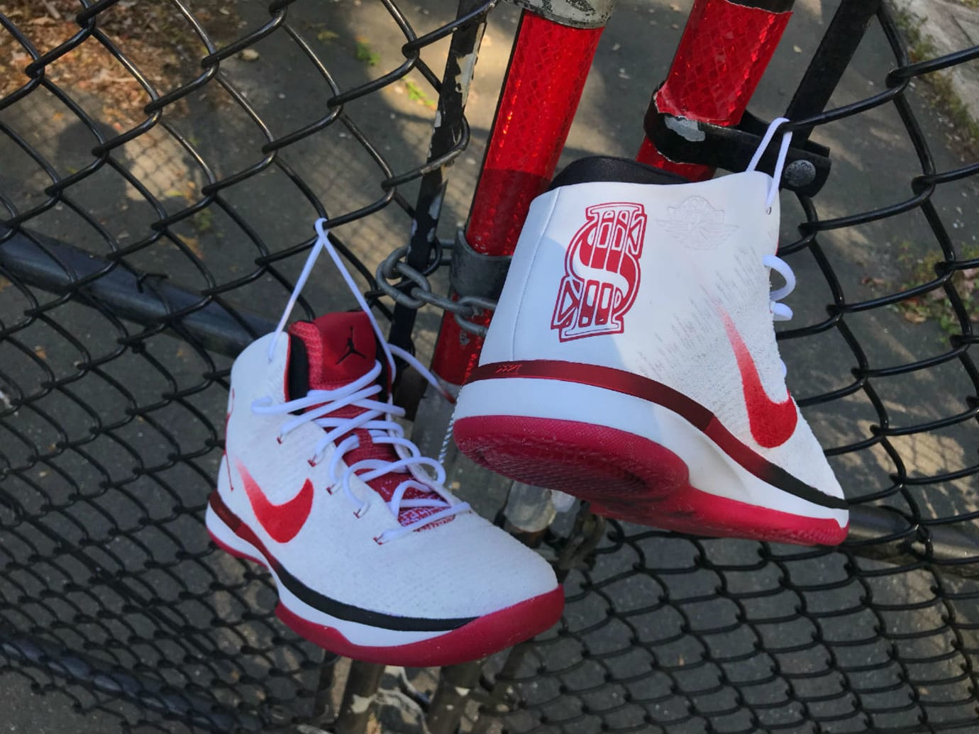 Shane McMahon Air Jordan 31 Red Wings Custom Hell in a Cell (2)