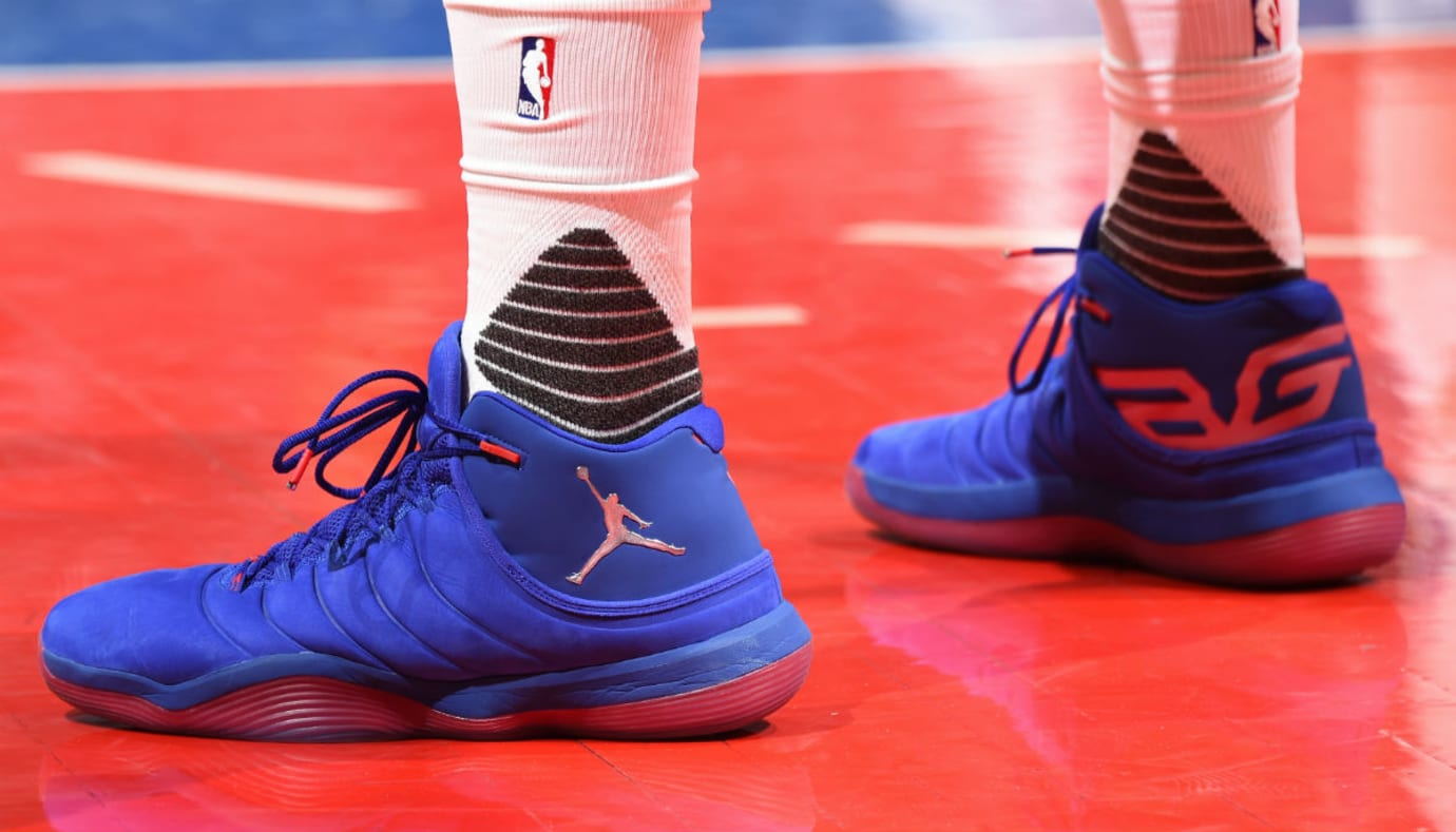 8ba0eb6ec5b9 Blake Griffin debuts the Jordan Super.Fly 6 in the playoffs.