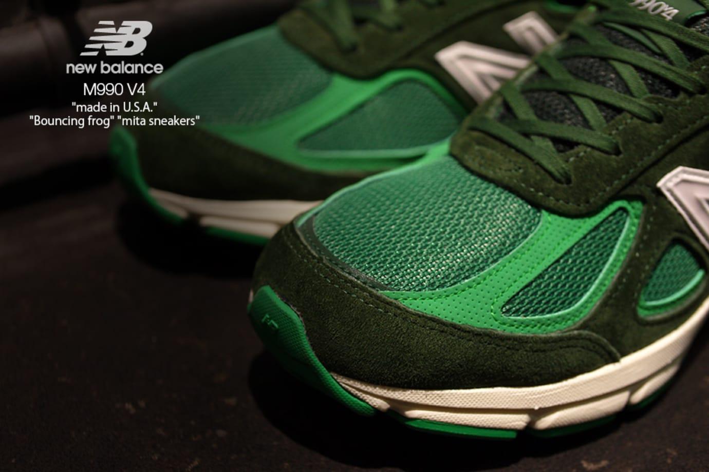Image via Mita Sneakers Mita Sneakers x New Balance 990v4  Bouncing Frog   (Toe) 7baf39df3