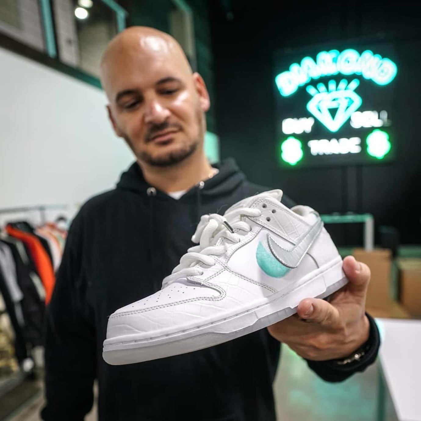 Diamond Supply Co x Nike SB Dunk Low 'White Diamond'