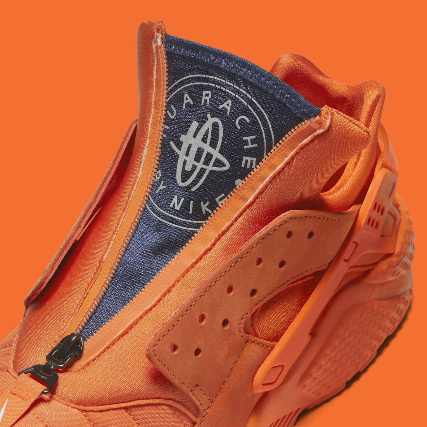 ea5048580 Nike Air Huarache Run Chicago Orange Release Date AJ5578-800 Tongue