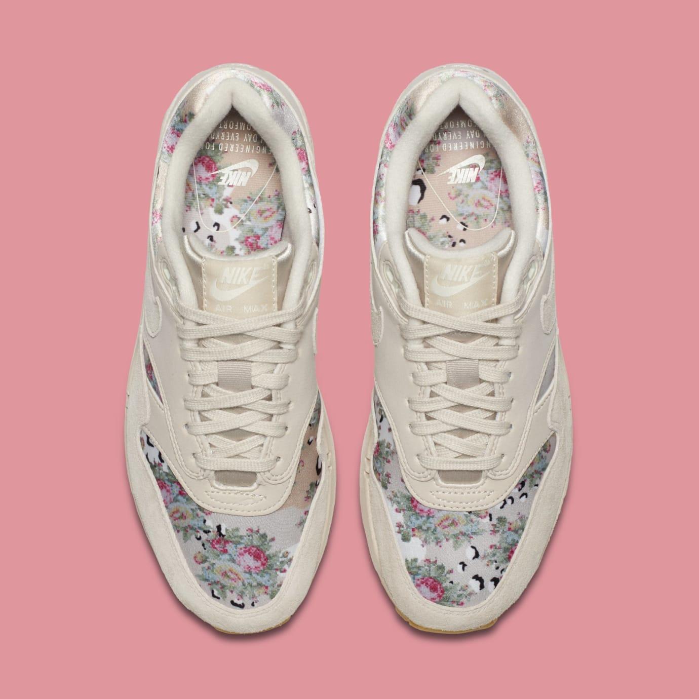 WMNS Nike Air Max 1 'Floral Camo' AQ6378-001 (Top)