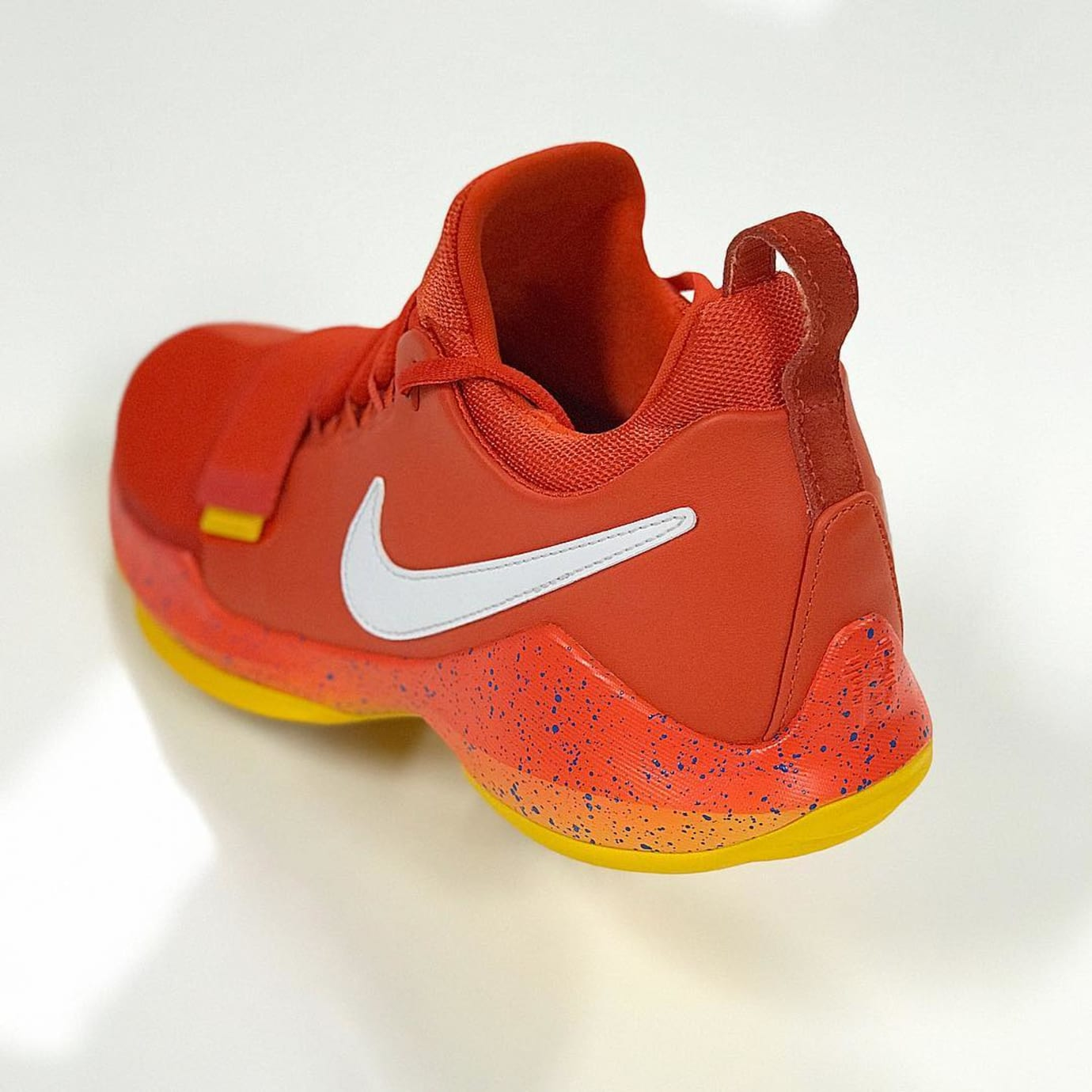 Nike PG1 Orange Opening Night PE Heel