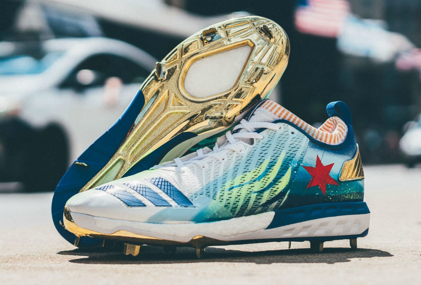 35672e60fa4d Kris Bryant Custom Cleats Support Spinal Cord Injury Research