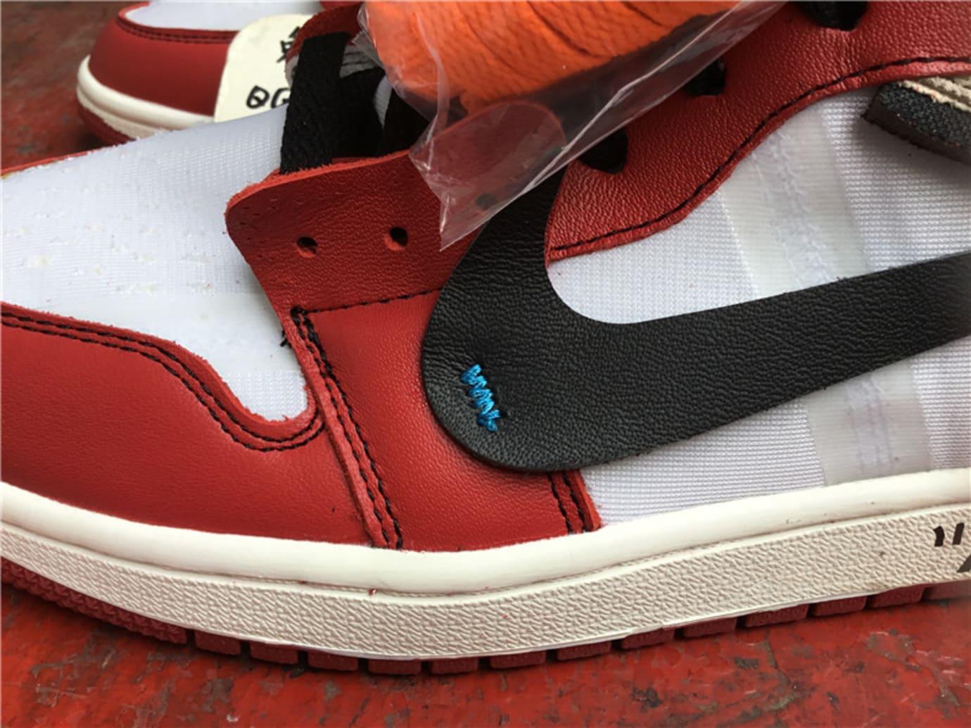 Off-White Air Jordan 1 Release Date Swoosh AA3834-101