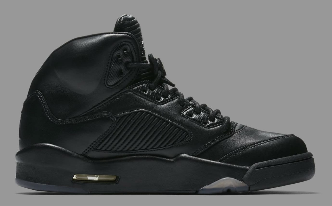Air Jordan 5 Premium Black Release Date Medial 881432-010