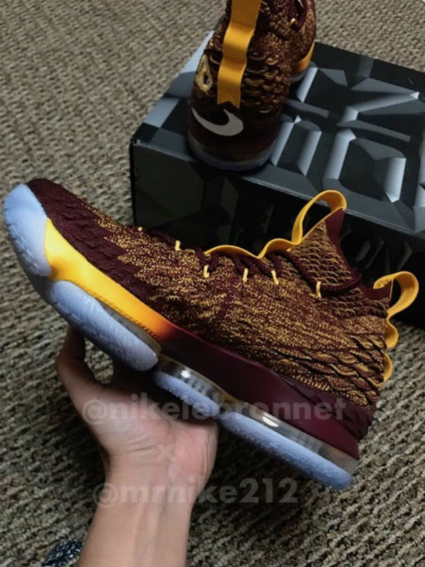 new style 214a1 b55ce Nike LeBron 15 Christ the King CTK PE Multicolor Medial