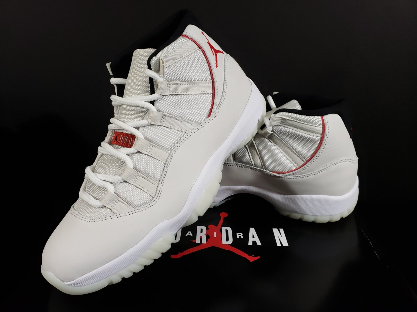 c62f1bad6e4 Image via Fineline1721 · Air Jordan 11 XI Platinum Tint Release Date  378037-016 Left