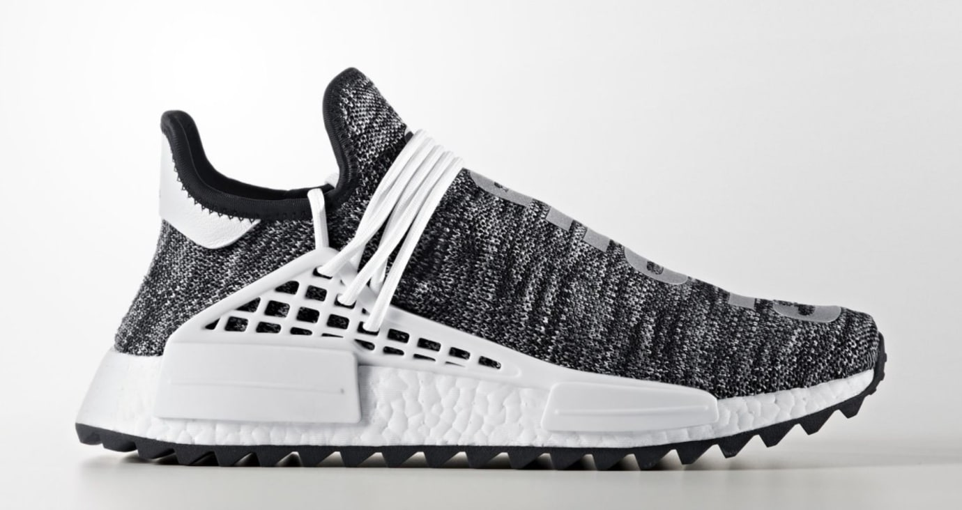 Pharrell x Adidas NMD HU Trail 'Core Black' (Lateral)