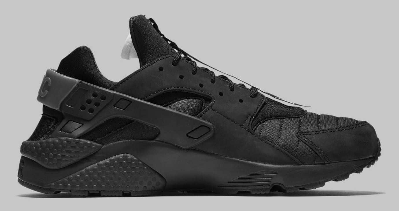 competitive price 2c40f 12545 Nike Air Huarache Run NYC Triple Black Release Date AJ5578-001 Medial