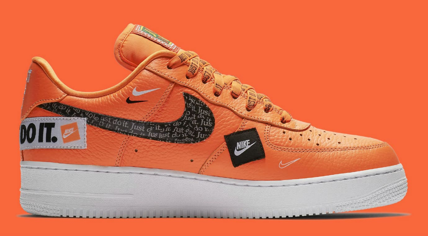 Nike Air Force 1 Low Just Do It Orange Release Date AR7719-800 Medial