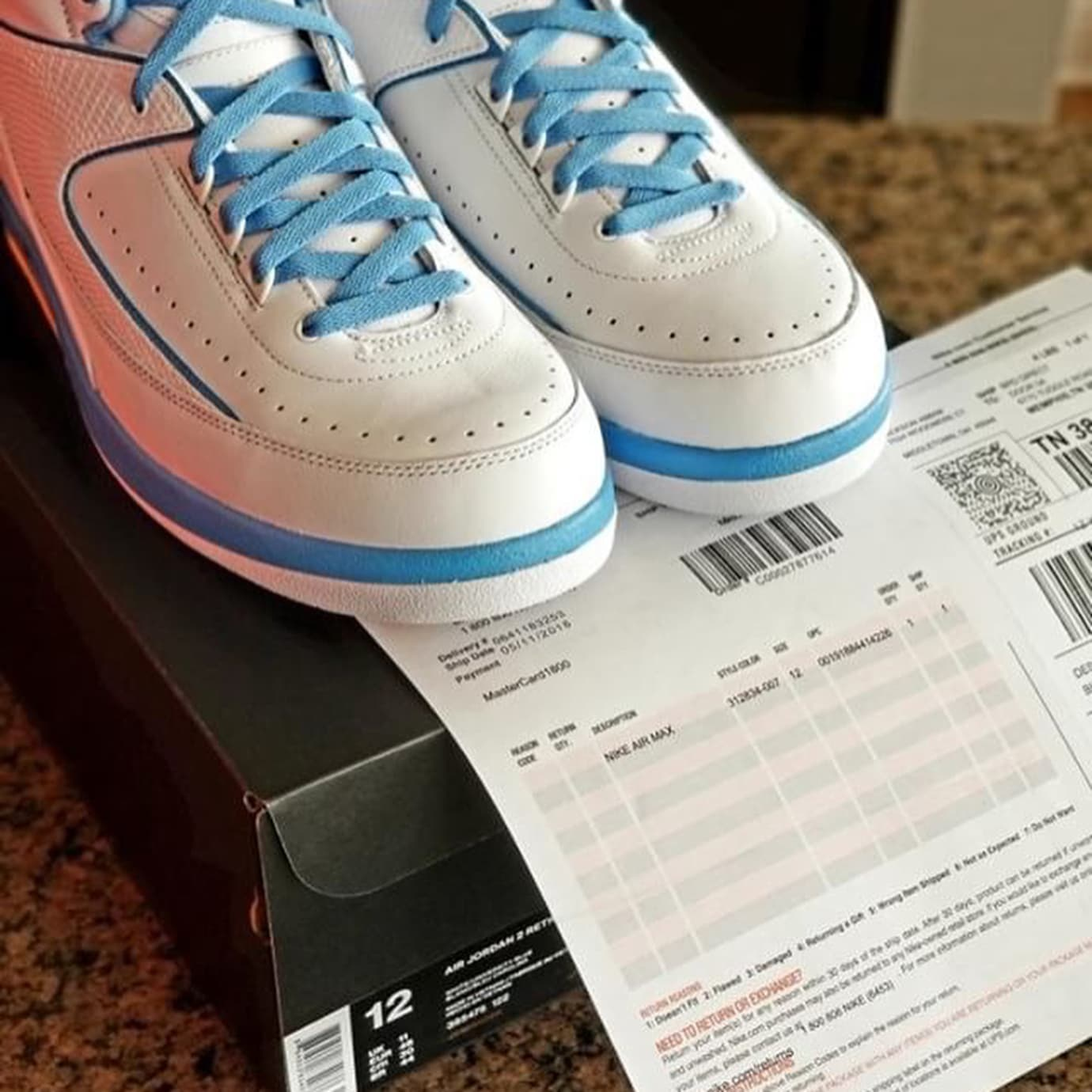 Image via Nike Air Jordan 2 II Melo 2018 Release Date 385475-122 Box 940a2755e