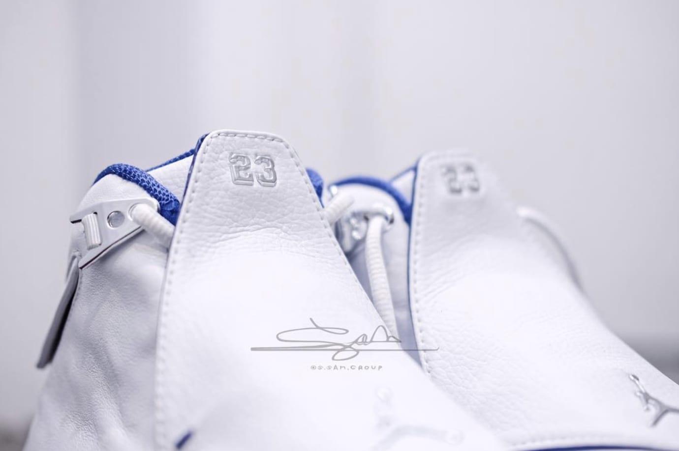 Air Jordan 18 White/Sport Royal-White-Metallic Silver AA2494-106 (Tongue)