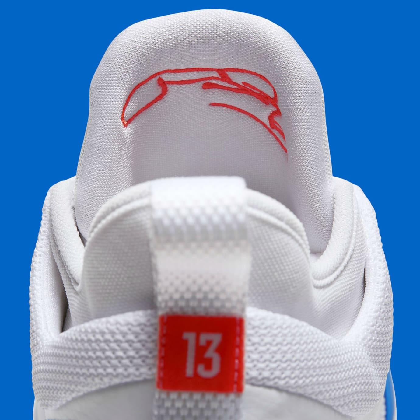 f16393c8e12 Nike PG2 OKC Home Release Date AJ2039-100 Tongue