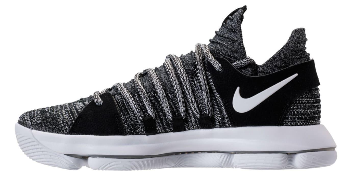 buy online 3ddbf 840a6 Nike KD 10 Oreo Release Date Medial 897815-001