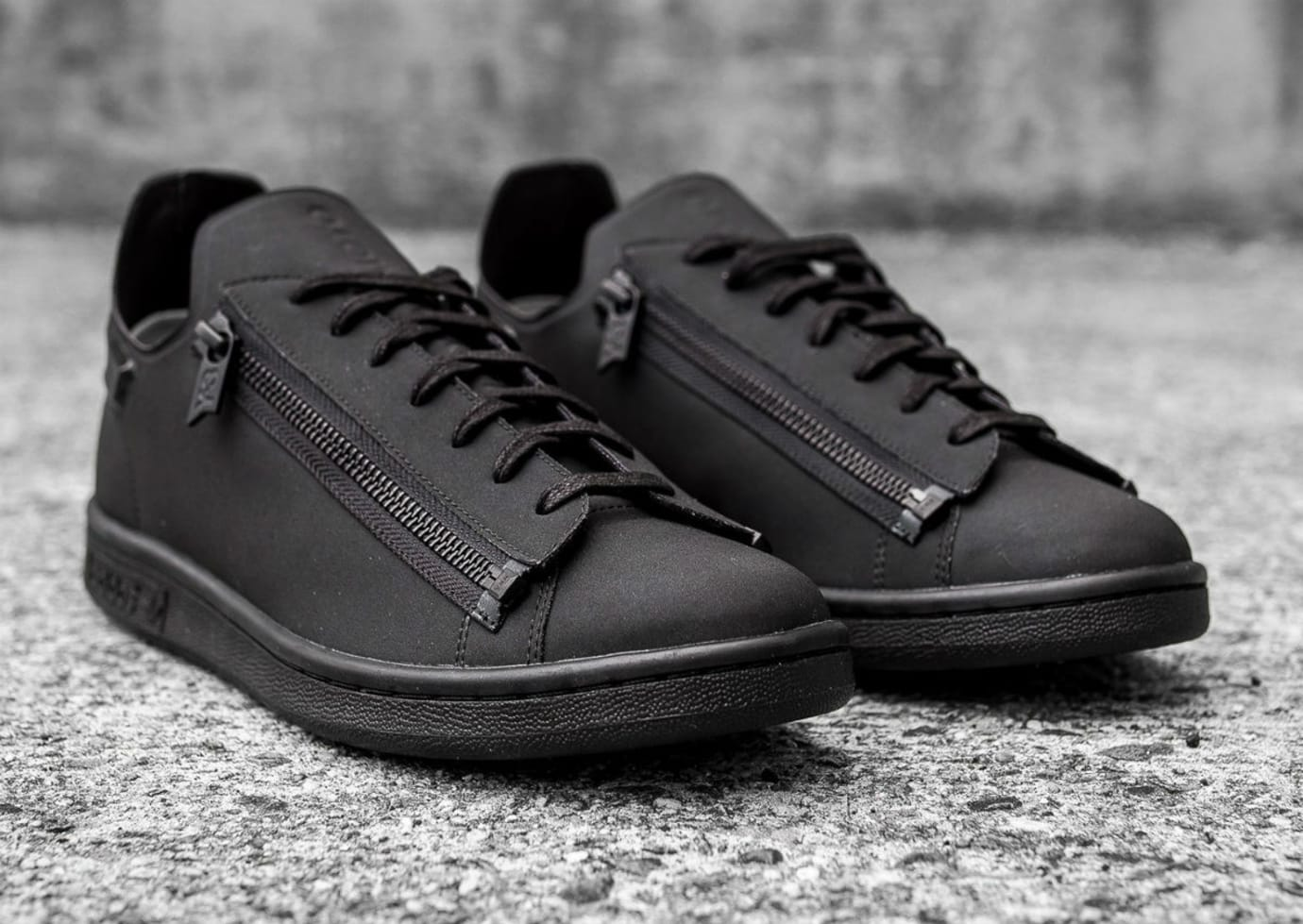 f9809c0571a1c Adidas Y3 Stan Smith Zip Triple Black Available Now