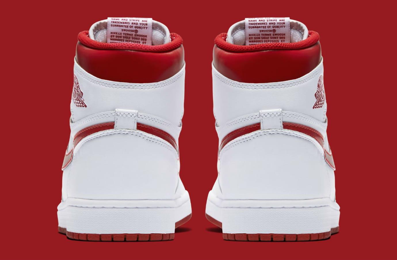 Air Jordan 1 Metallic Red 2017 Release Date Heel 555088-103