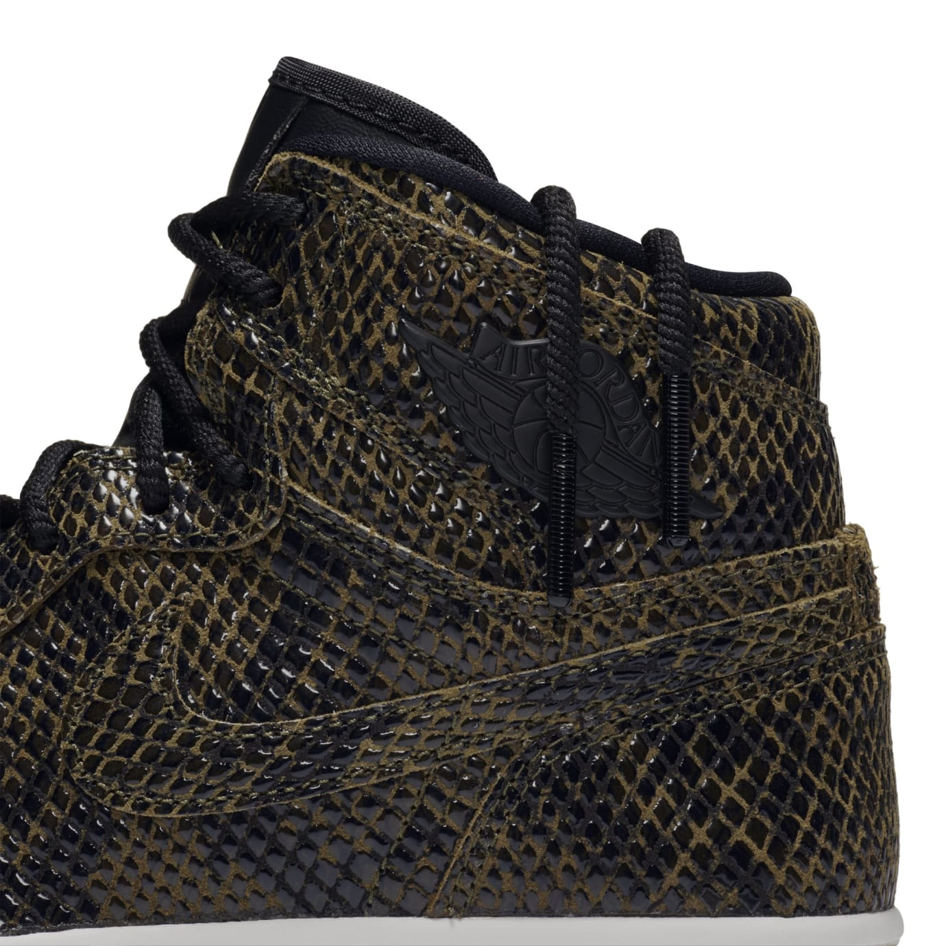 Air Jordan 1 Retro High Premium Women's Snake 'Olive Canvas' AH7389-302 (Detail)