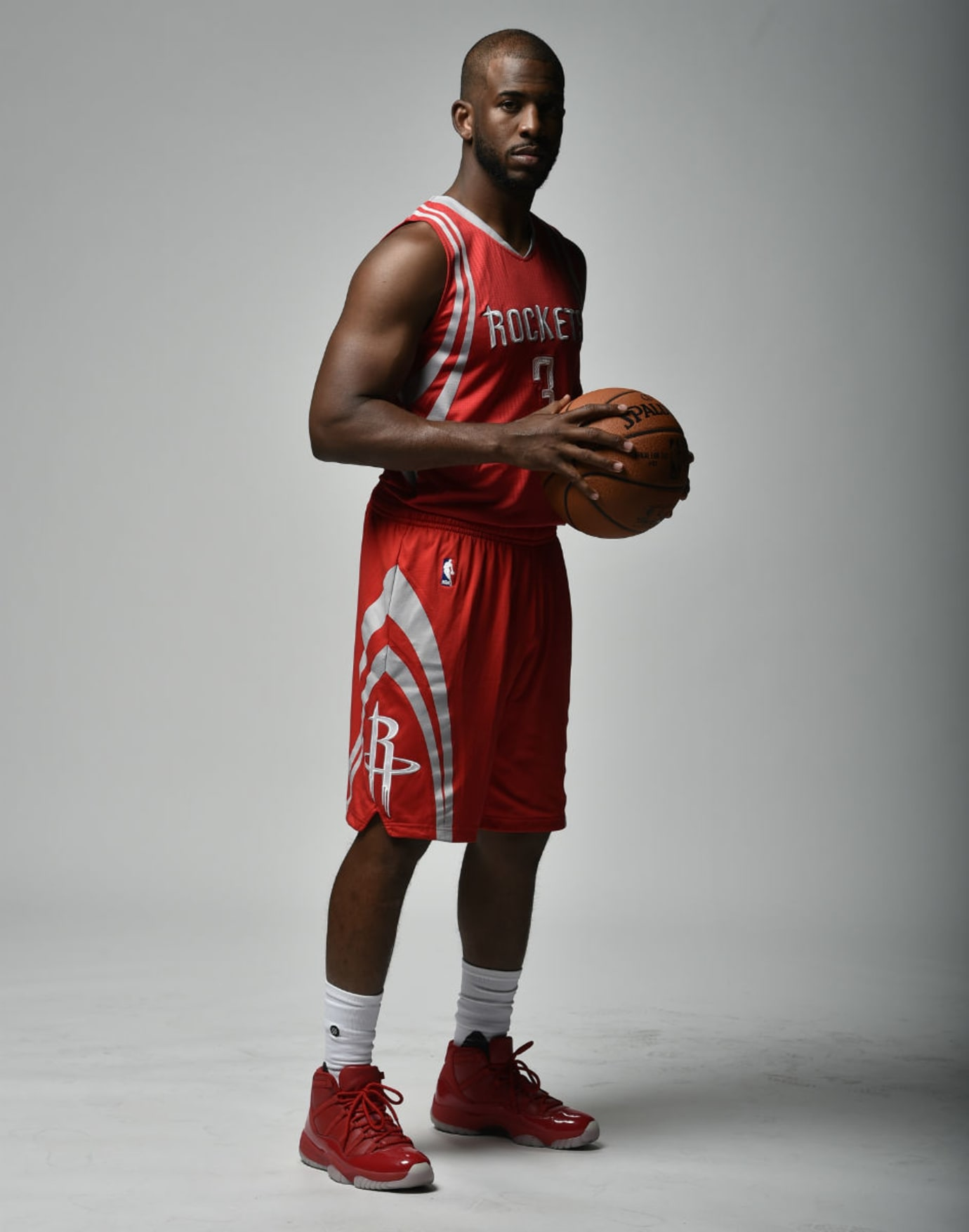 on sale 09747 447fa Chris Paul Debuts Rockets Uniform with Air Jordan 11 PE ...