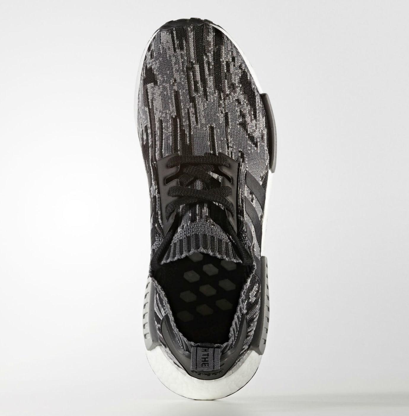 41e8cb3d33fa9 Adidas NMD R1 Primeknit Glitch Camo Core Black Grey Three Release Date Top  BZ0223