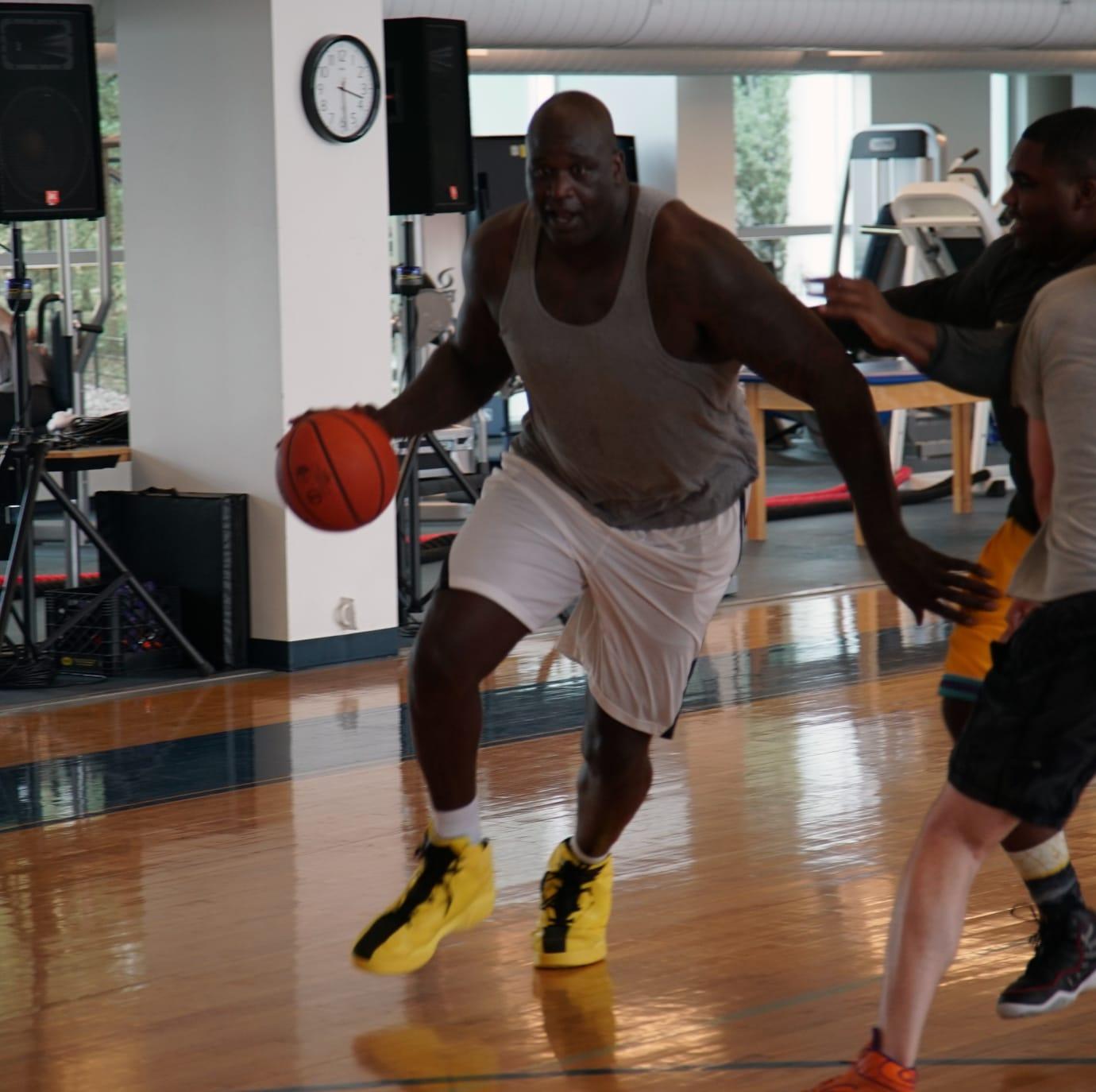 Shaq Playing Basketball Reebok HQ