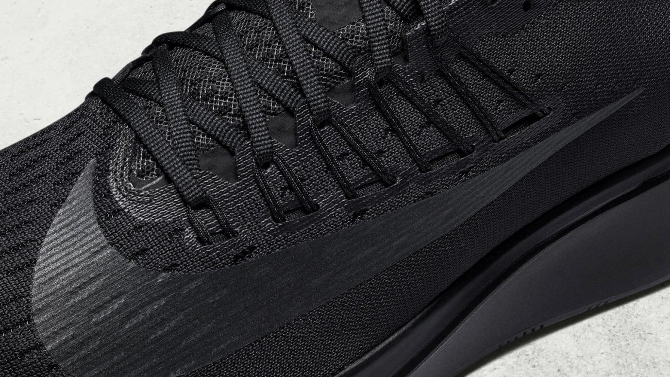 Nike Zoom Fly Triple Black Release Date 880848-003 Laces