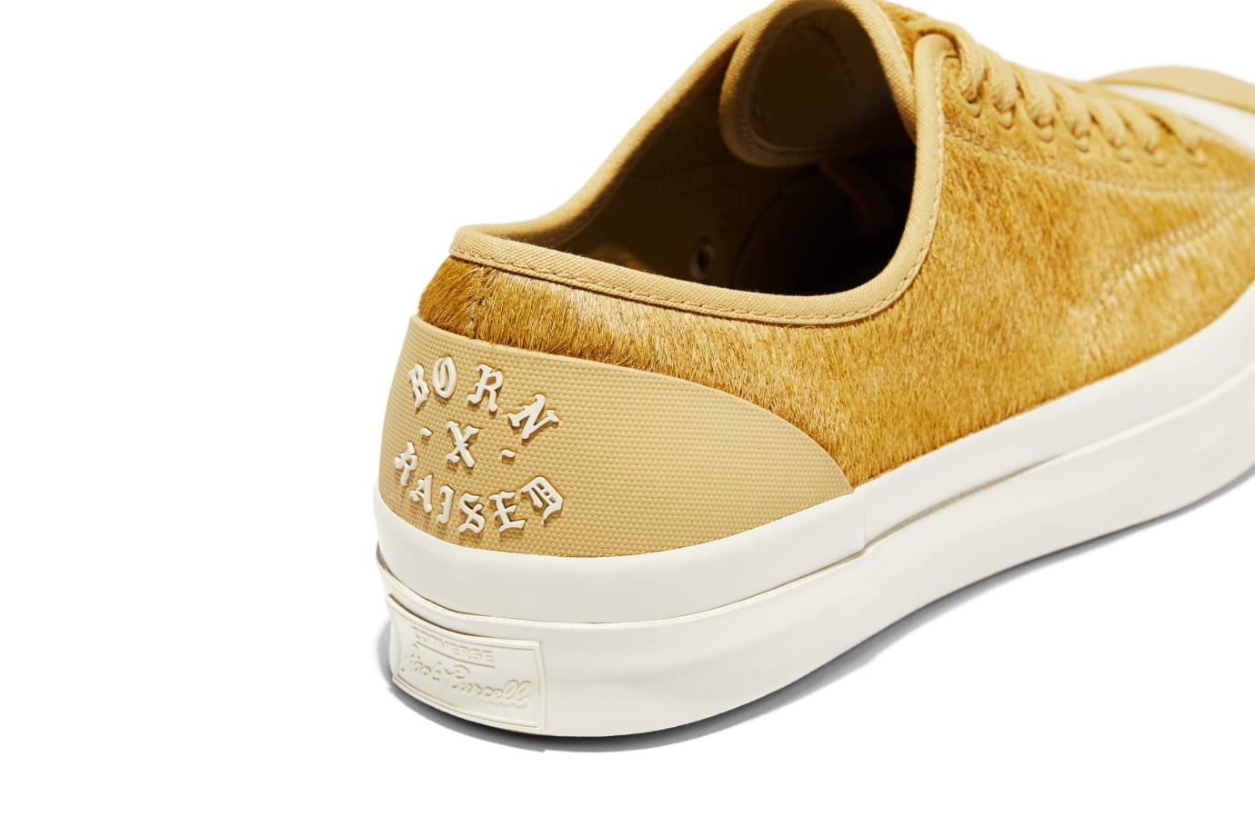 BornxRaised x Converse Jack Purcell 'Camel' (Heel 2)