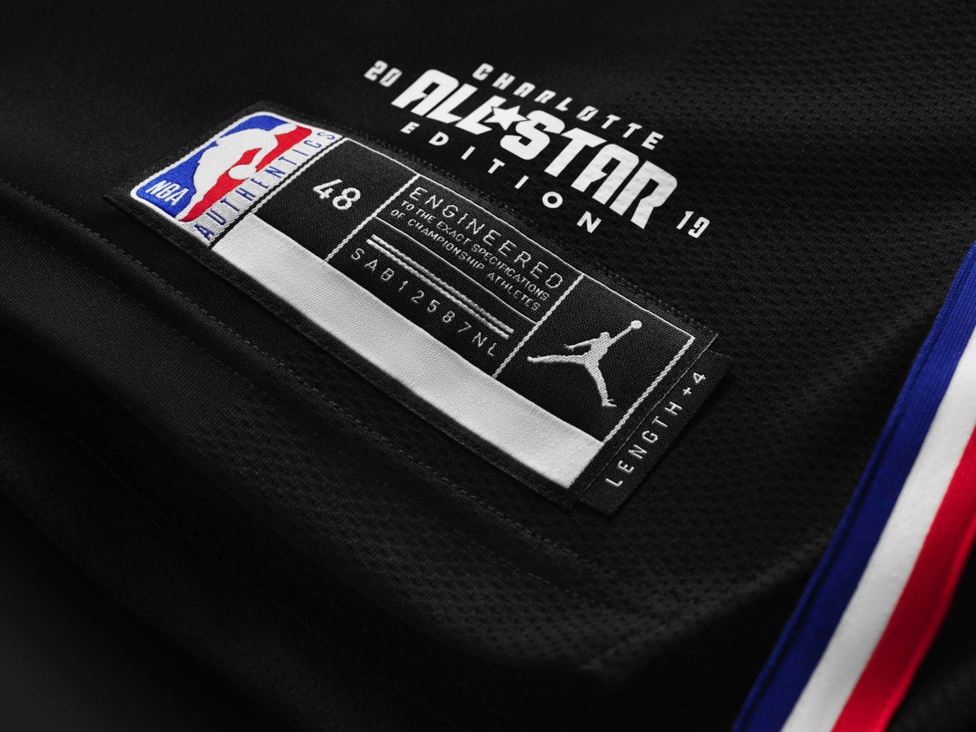 buy online 5774d 7b5ac Jordan All-Star Uniform 2019 Black Tag