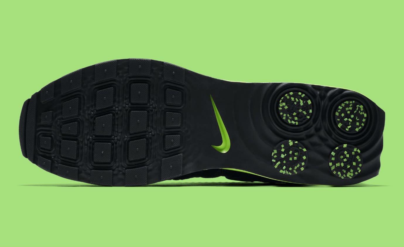 Nike Shox Gravity Luxe Black Green Strike Release Date AR1470-003 Sole