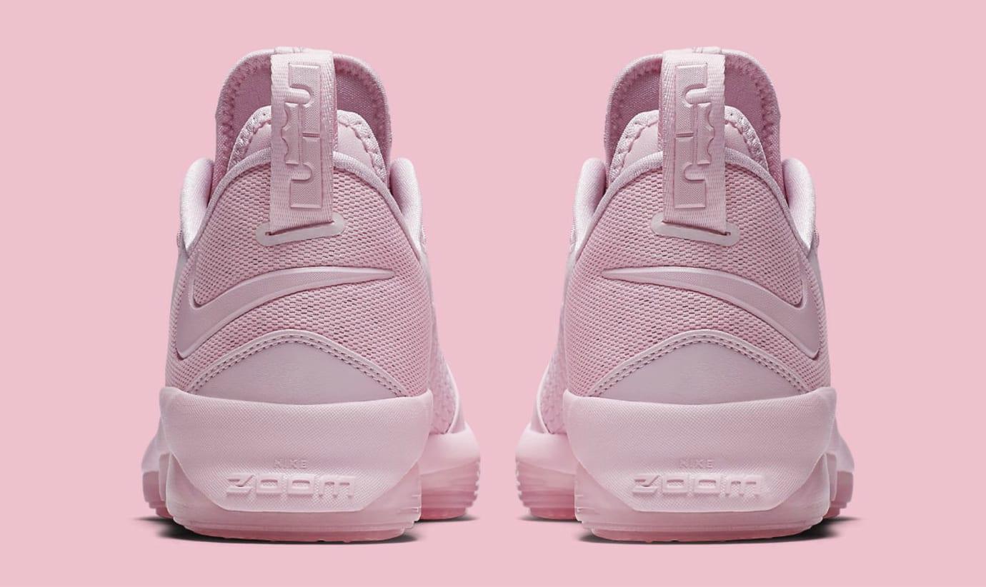 Nike LeBron 14 Low Pink Release Date Heel 878635-600