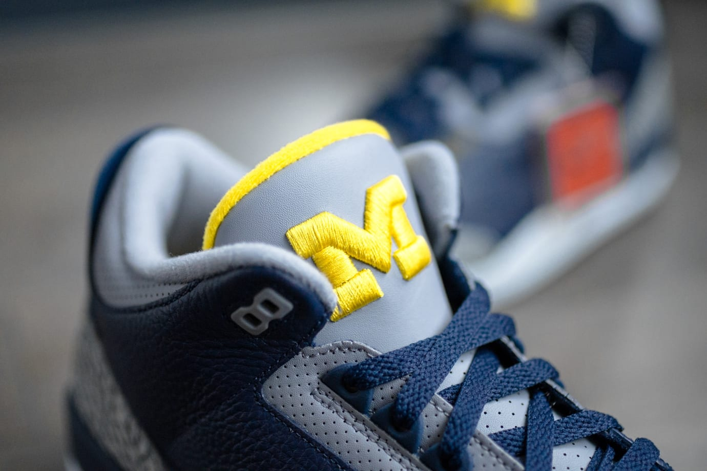 Air Jordan 3 'Michigan' PE (Tongue)
