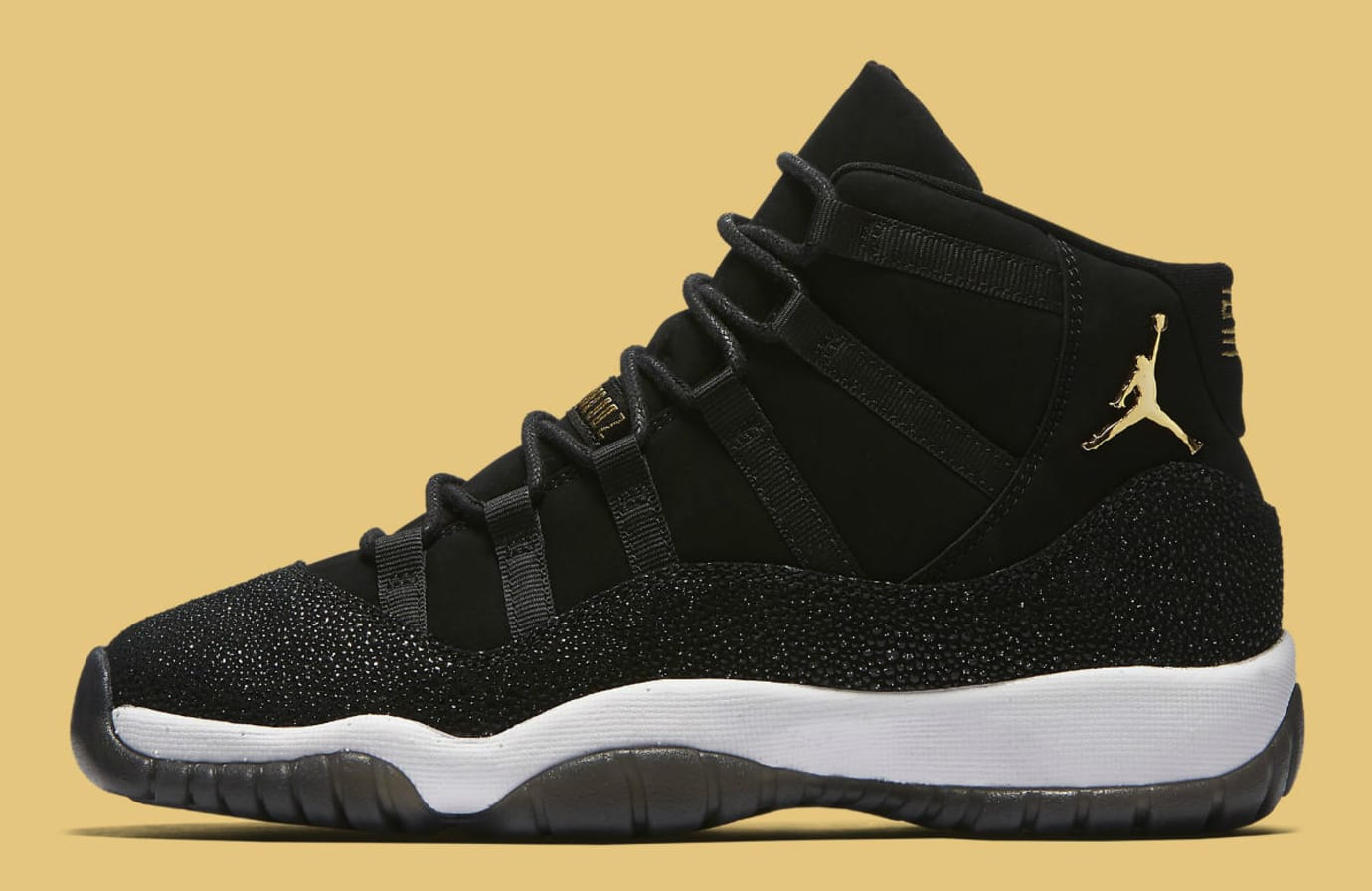 Air Jordan 11 XI Heiress Black Release Date 852625-030 Profile