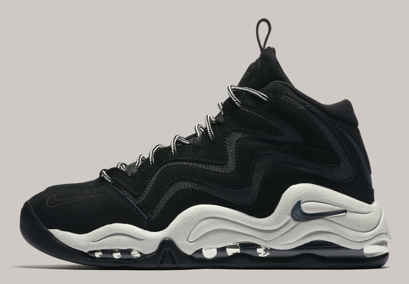 9fe1f3814405 Nike Air Pippen Black Anthracite Vast Grey Release Date 325001-004 Profile