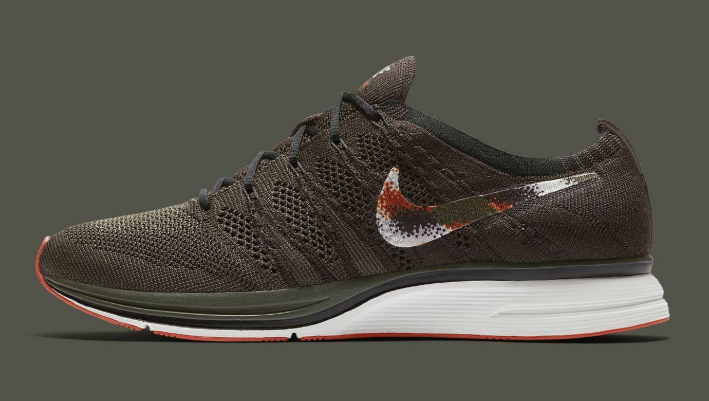 Nike Flyknit Trainer Dark Green Release Date AH8396-202 Profile