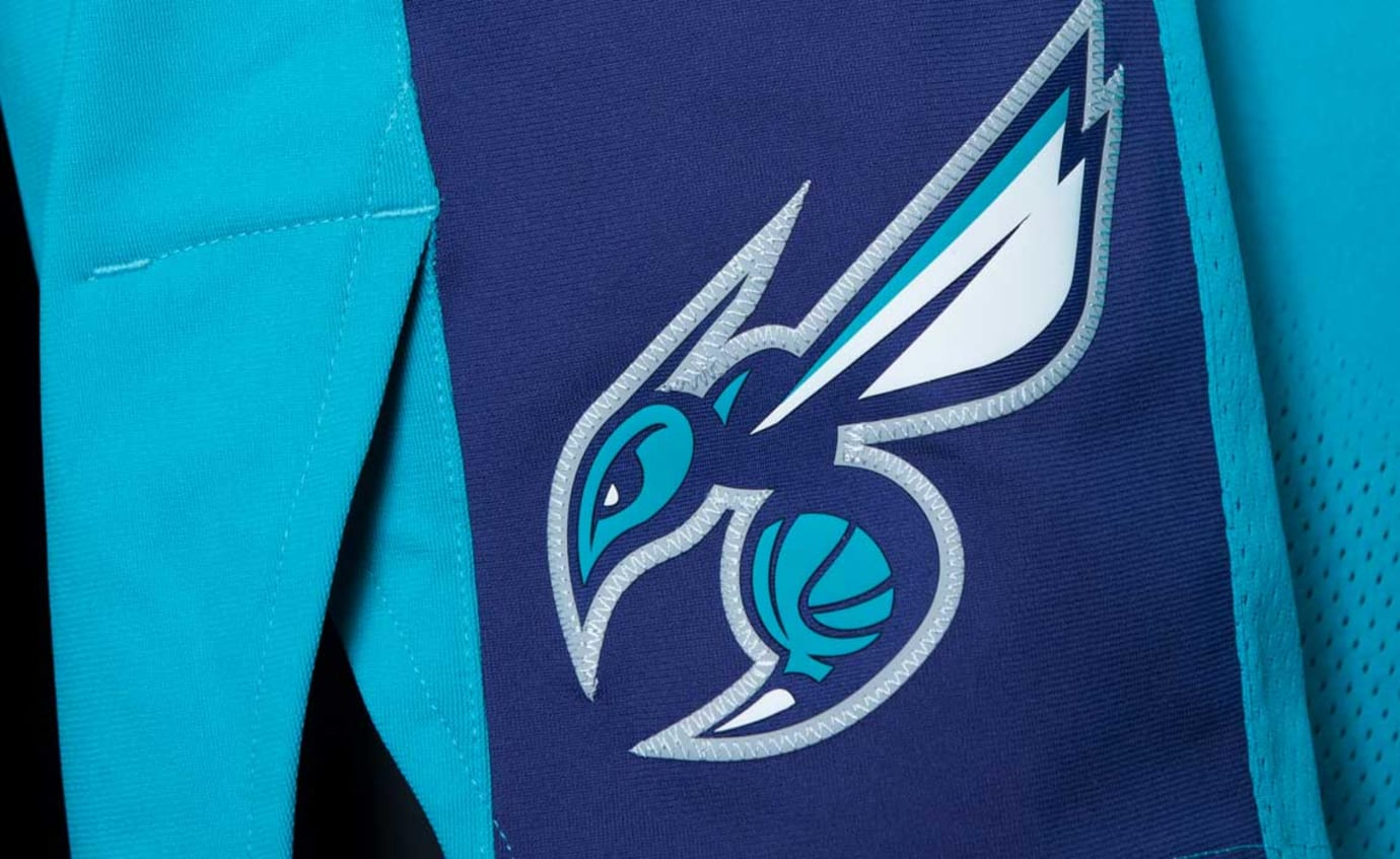 Jordan Hornets Jersey Away Icon Logo Shorts