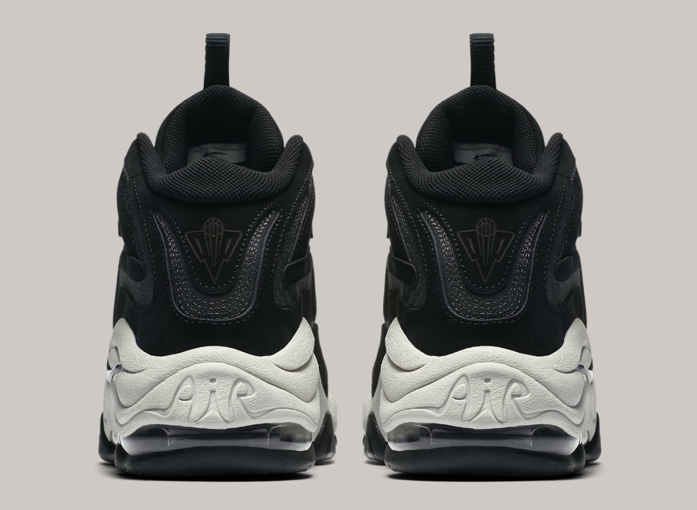 Nike Air Pippen Black Anthracite Vast Grey Release Date 325001-004 Heel
