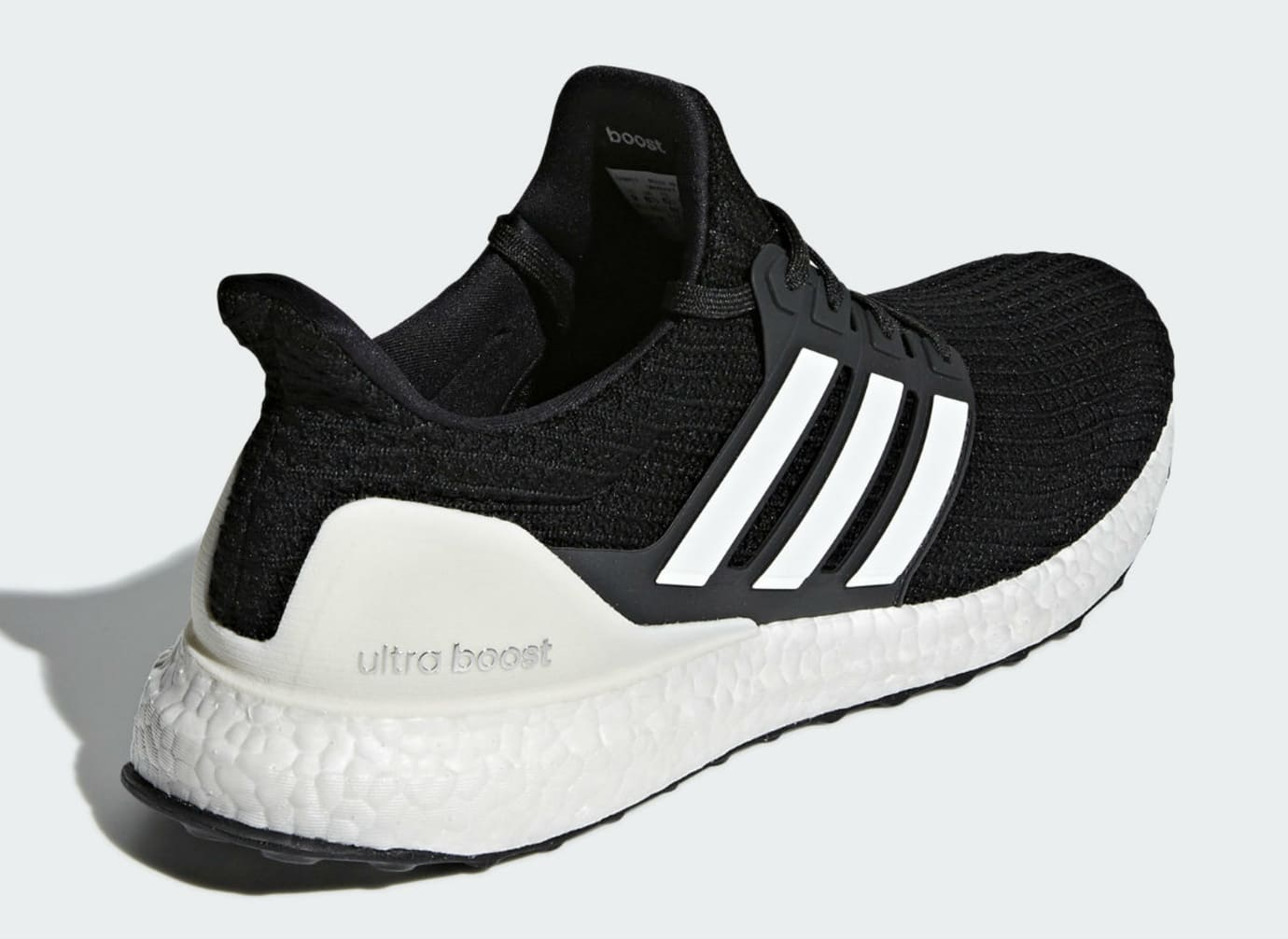 Image via Adidas Adidas Ultra Boost 4.0 Show Your Stripes Core Black Cloud  White Carbon Release date AQ0062 Back 708bf0891