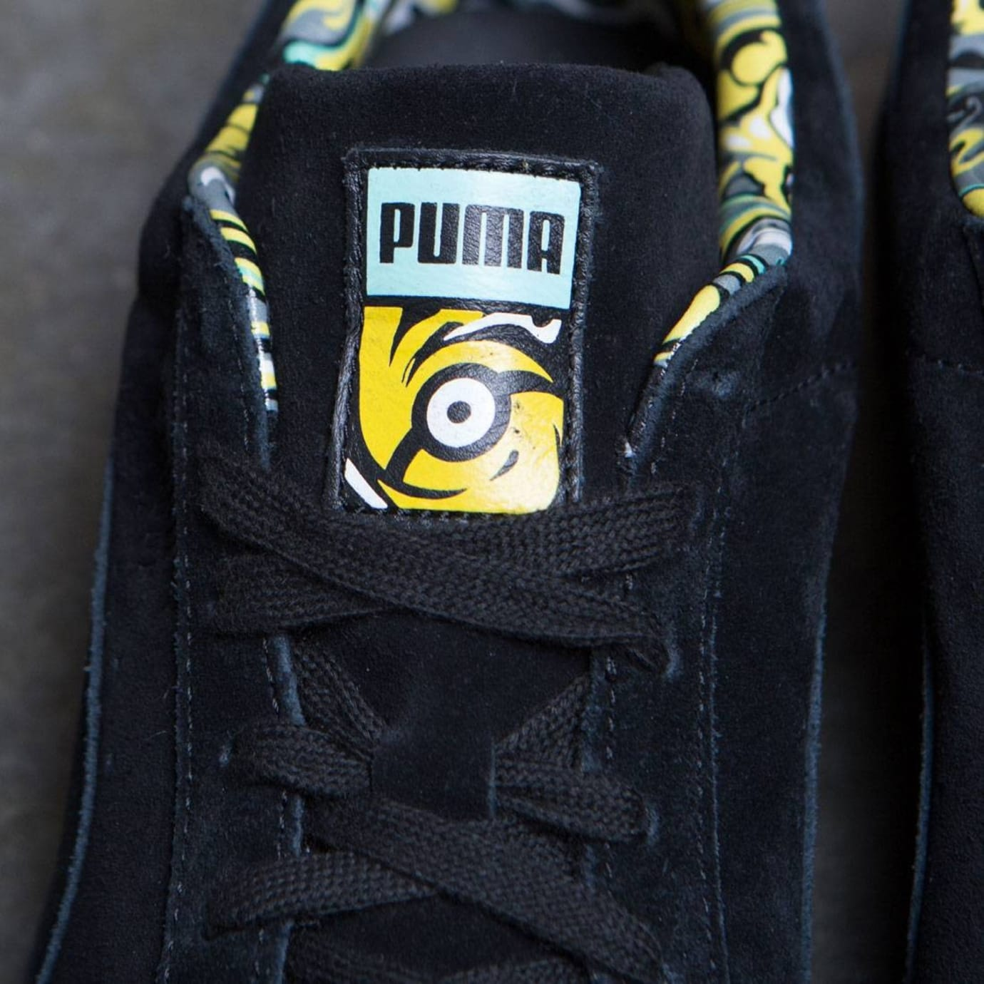 Minions x Puma Suede Release Date Tongue