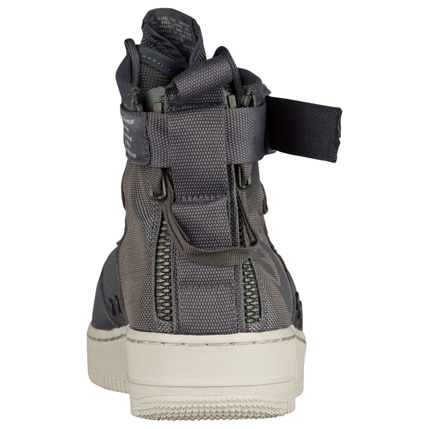 Nike SF Air Force 1 Mid Dark Grey Release Date Heel 917753-004