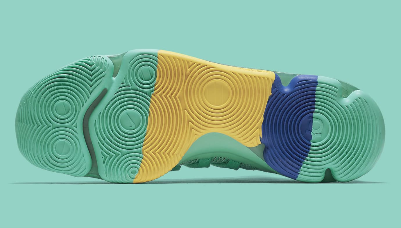 Nike KD 10 X City Edition Hyper Turquoise Racer Blue Release Date 897816-300 Sole