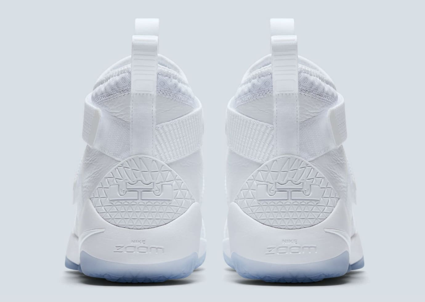 Nike LeBron Soldier 11 White Release Date Heel 897644-103
