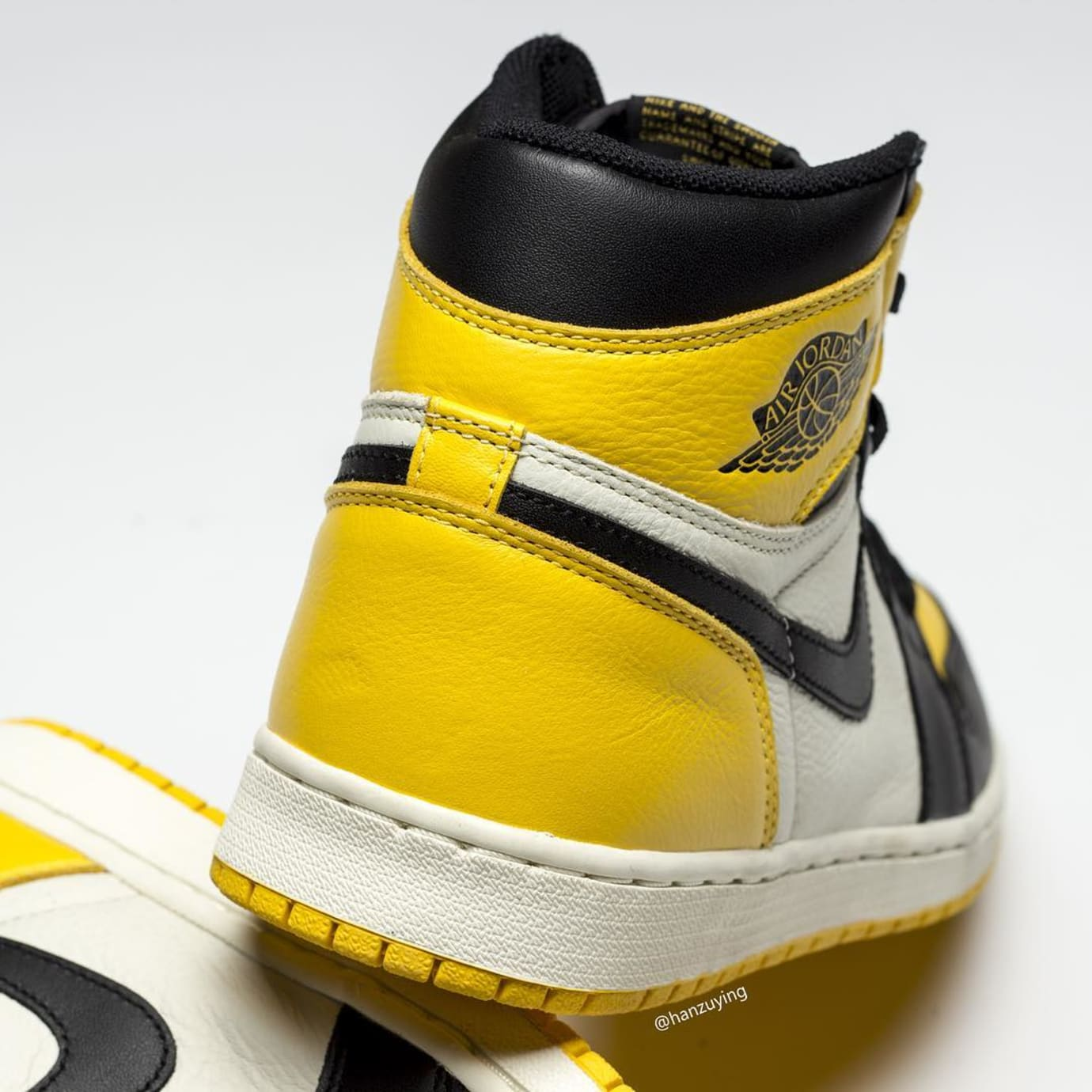 Air Jordan 1 Retro High OG 'Yellow Toe' AR1020-700 Heel