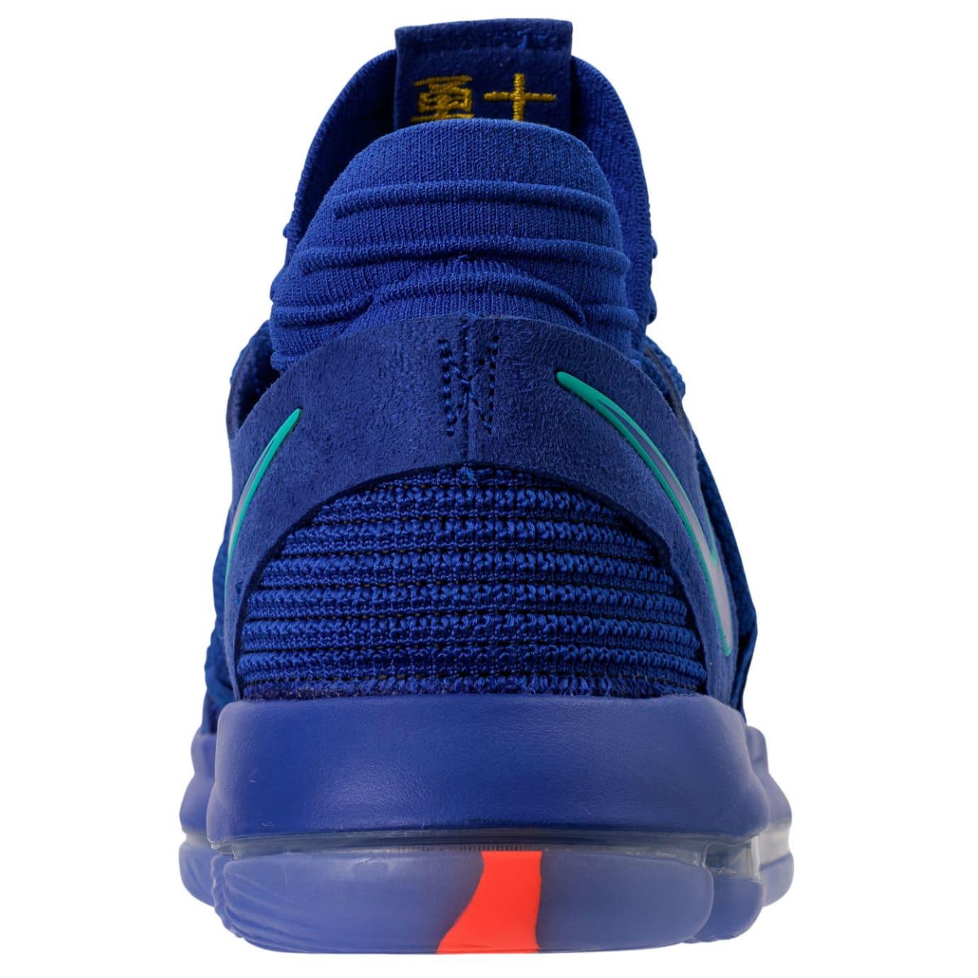 Nike KD 10 City Edition Release Date 897815-402 Heel