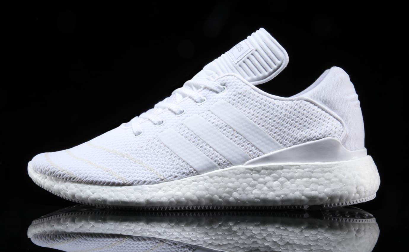 Adidas Busenitz Pure Boost Triple White Profile